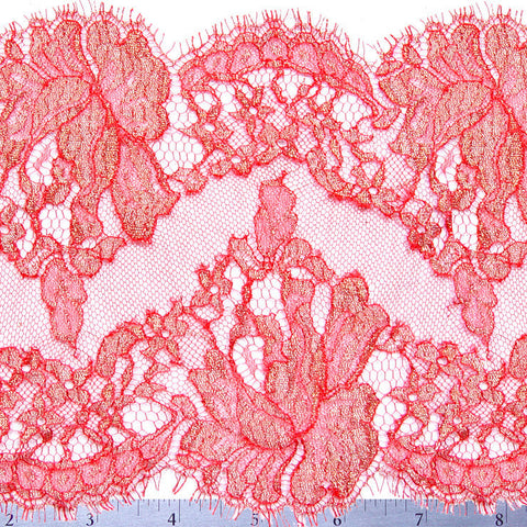 Chantilly Lace Trim 6 Inch Red - NY Fashion Center Fabrics