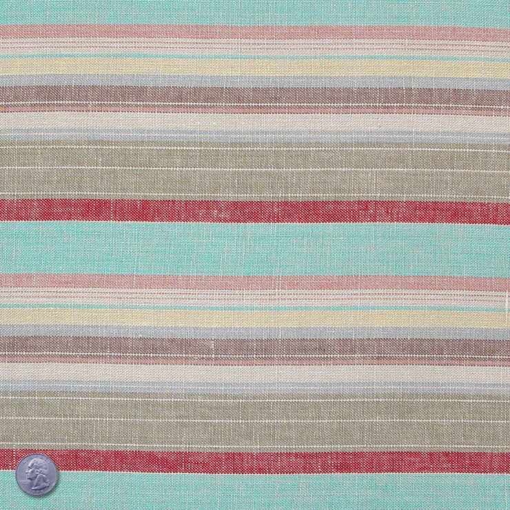 Linen Stripes Collection #2 River Dance - NY Fashion Center Fabrics