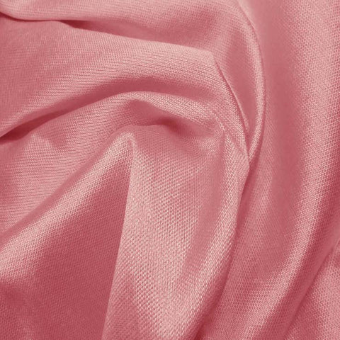 Silk Wool Fabric Rose