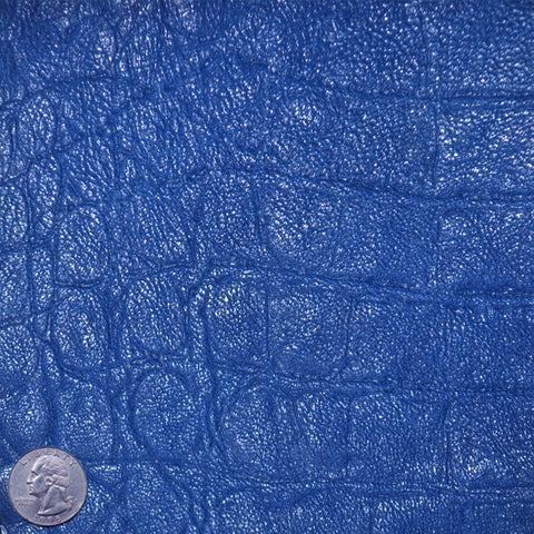 Crocodile Embossed Lamb Leather Royal - NY Fashion Center Fabrics