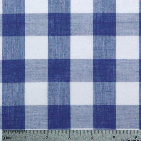 Cotton/Polyester Gingham Royal - NY Fashion Center Fabrics