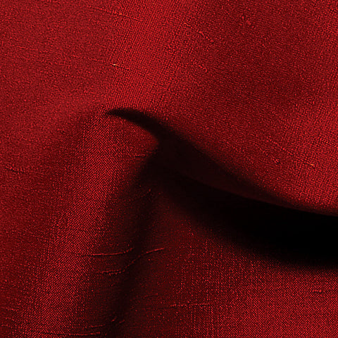 Polyester Stretch Shantung Ruby
