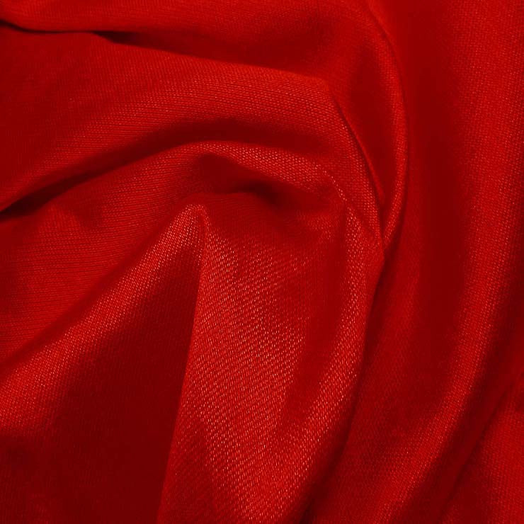 Silk Wool Fabric Scarlet