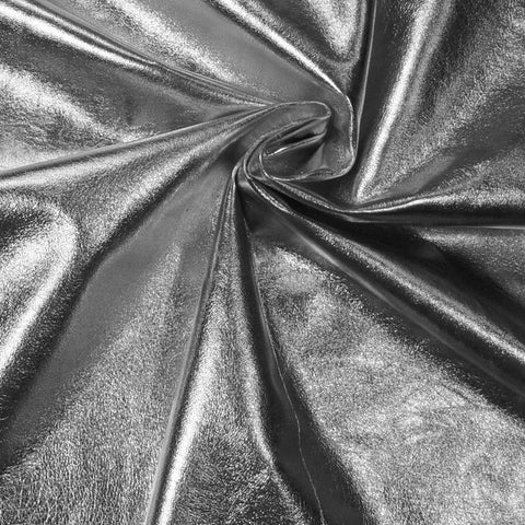 Metallic Lamb Leather Silver - NY Fashion Center Fabrics