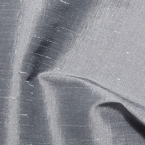Polyester Stretch Shantung Silver