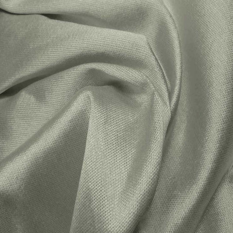Silk Wool Fabric Silver