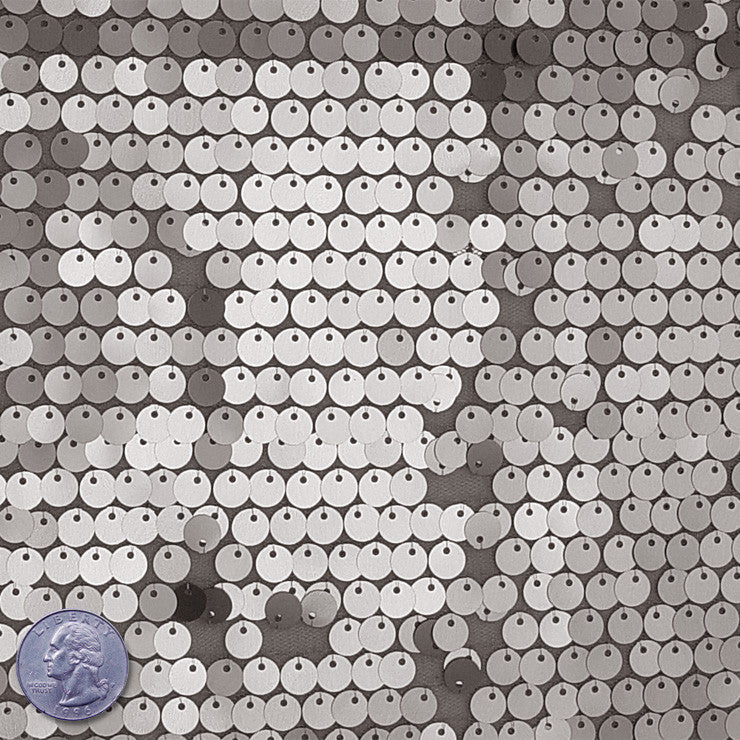 8mm Sequin Mesh Steel - NY Fashion Center Fabrics