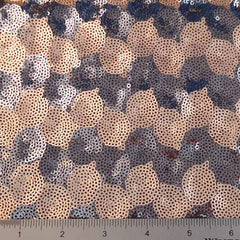 Circle Design Sequin Mesh Tan Grey - NY Fashion Center Fabrics
