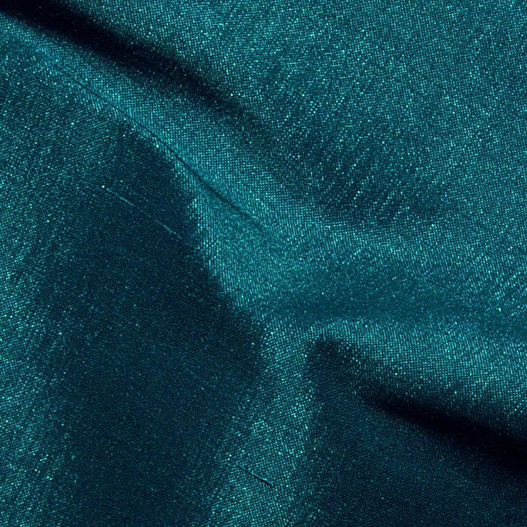 Polyester Stretch Shantung Teal