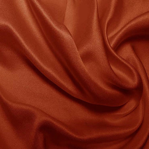 Silk Double Face Satin Terracotta