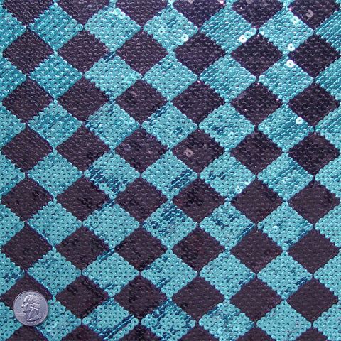 Serenade Sequin Jersey Turquoise And Black