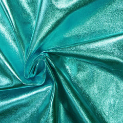 Metallic Lamb Leather Turquoise - NY Fashion Center Fabrics