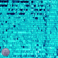 Piano Sequin Mesh Turquoise