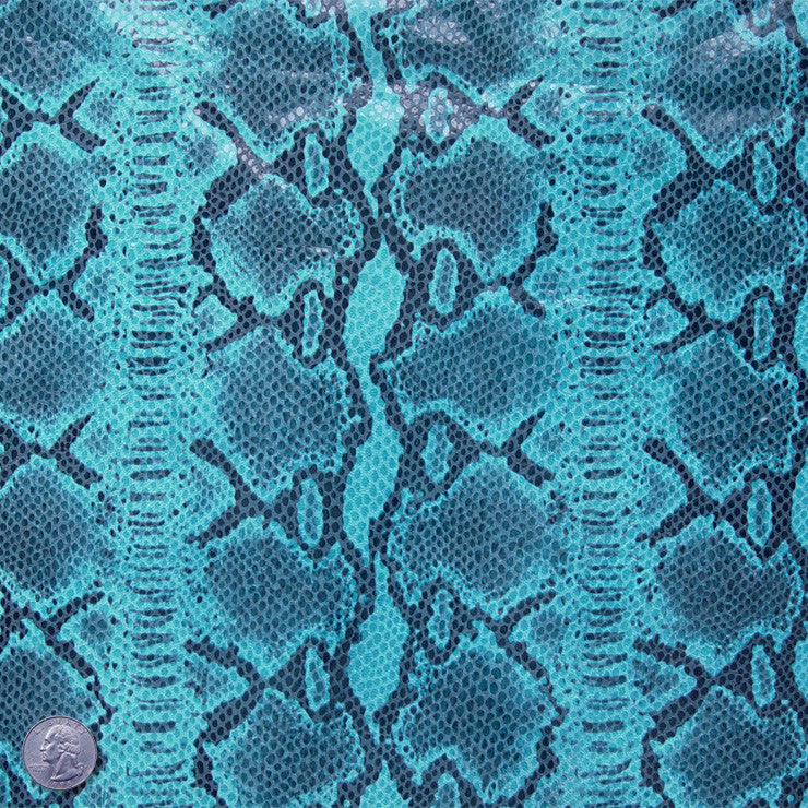 Python Printed Lamb Leather Turquoise