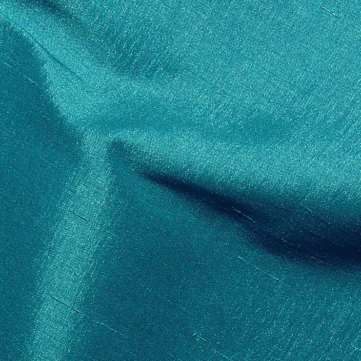 Polyester Stretch Shantung Turquoise