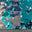 8mm Reversible Sequins Spandex White Teal on White - NY Fashion Center Fabrics