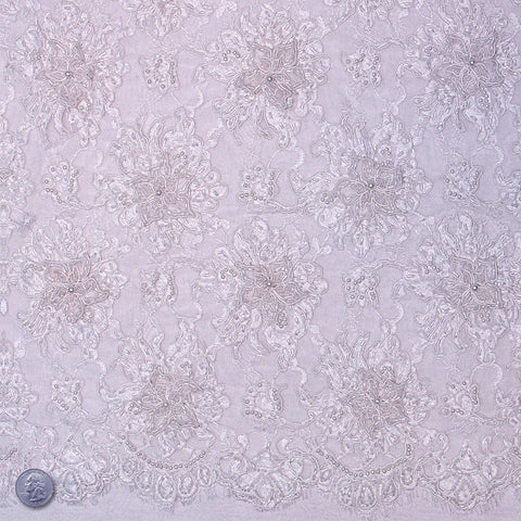 Mont Blanc Lace White - NY Fashion Center Fabrics