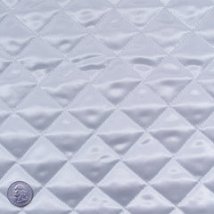 Polyester Quilted Padded Lining White