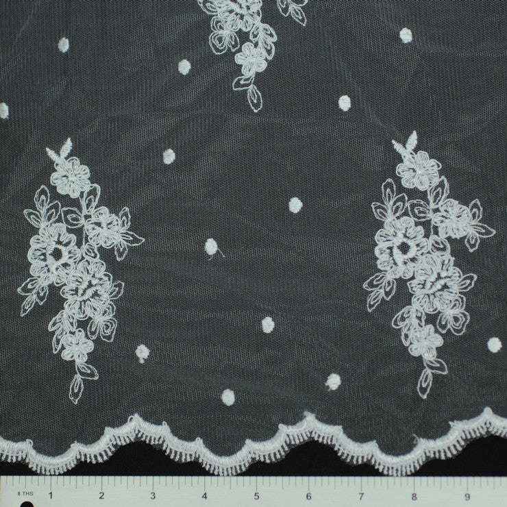 Double Scallop #95302W White - NY Fashion Center Fabrics
