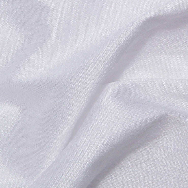 Polyester Stretch Shantung White