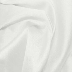 Silk Wool Fabric White