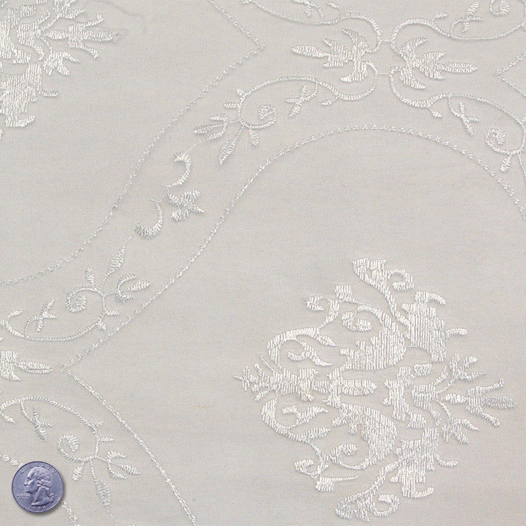 Polyester Embroidered Organza #2 White