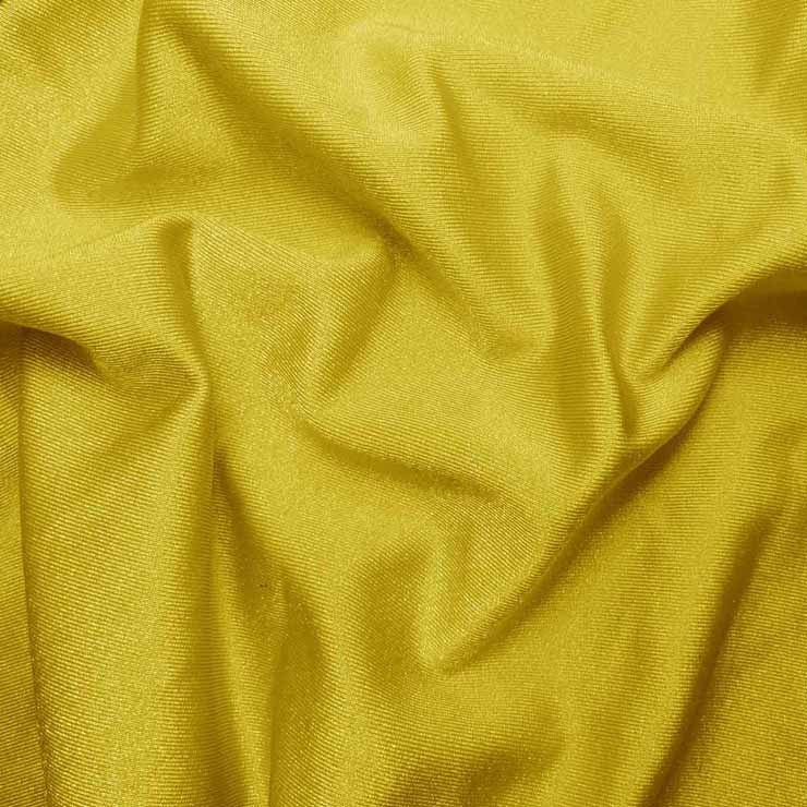 Solid Shiny Spandex Yellow