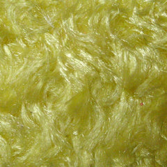 Polyester Stretch Poodle Faux Fur Yellow