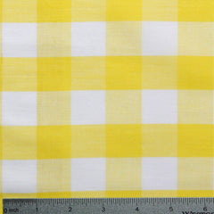 Cotton/Polyester Gingham Yellow - NY Fashion Center Fabrics