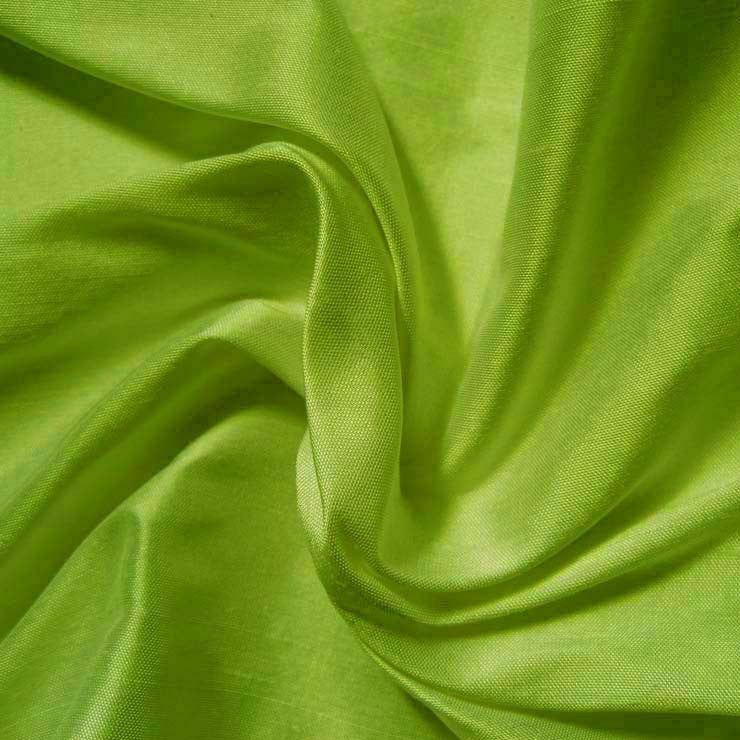 Silk Shantung apple green
