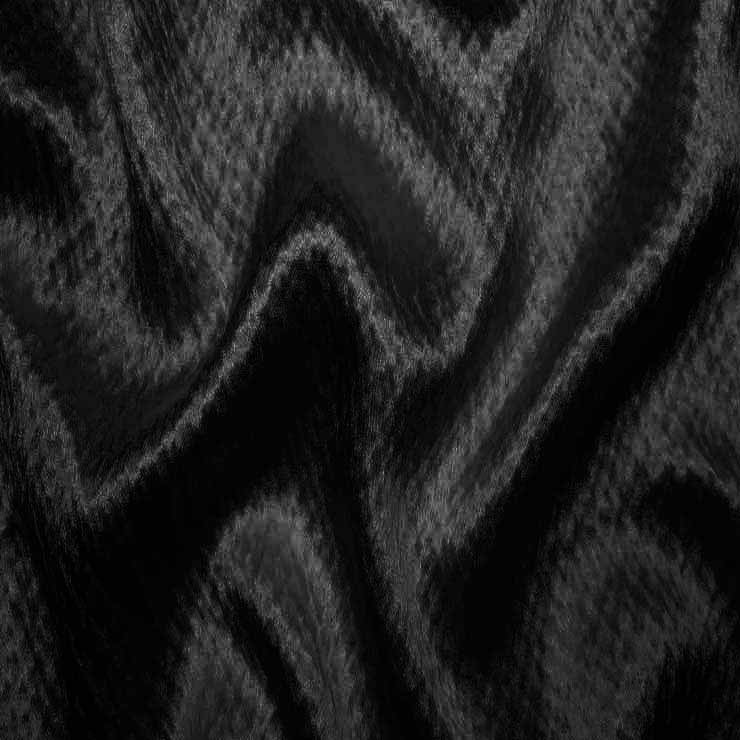 Silk Heavyweight Hammered Satin bs 4117 Black