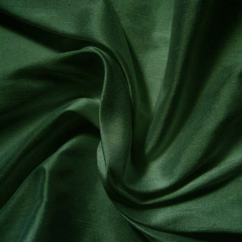 Silk Shantung forest green