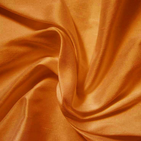 Silk Shantung red gold