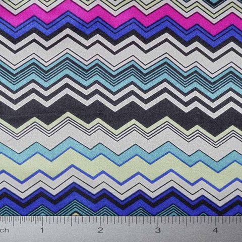 Silk Charmeuse Zigzag Stripe Print styleES2100 pattern10569