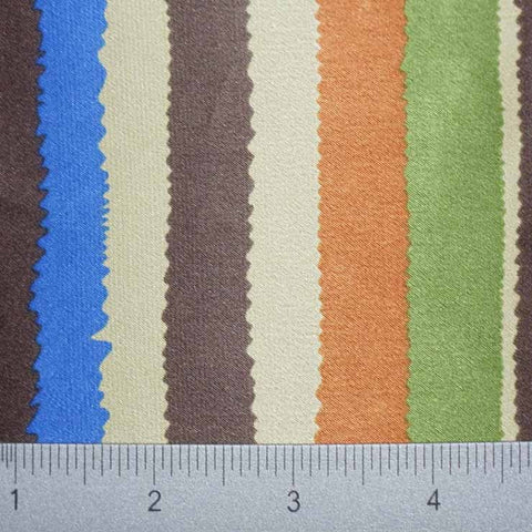 Silk Artistic Multi Stripe Charmeuse styleP2000 pattern10872BrownOliveBeige