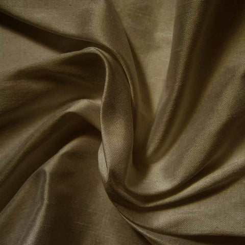 Silk Shantung teal brown