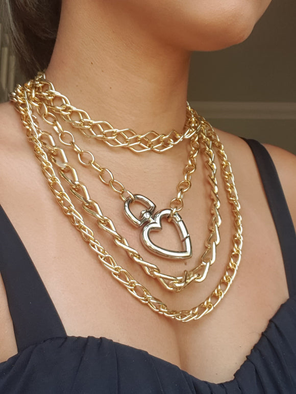 Multi Layer Chunky Gold Chain