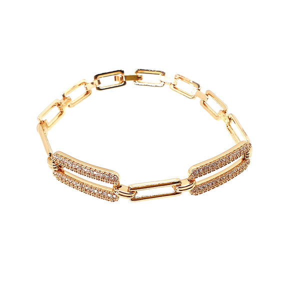 Gold or Silver Plated Chain Bracelet