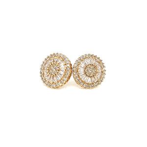 Small Round Earrings Gold