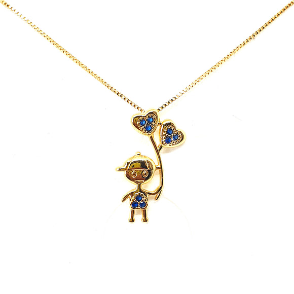Mother necklaces boy pendant gold