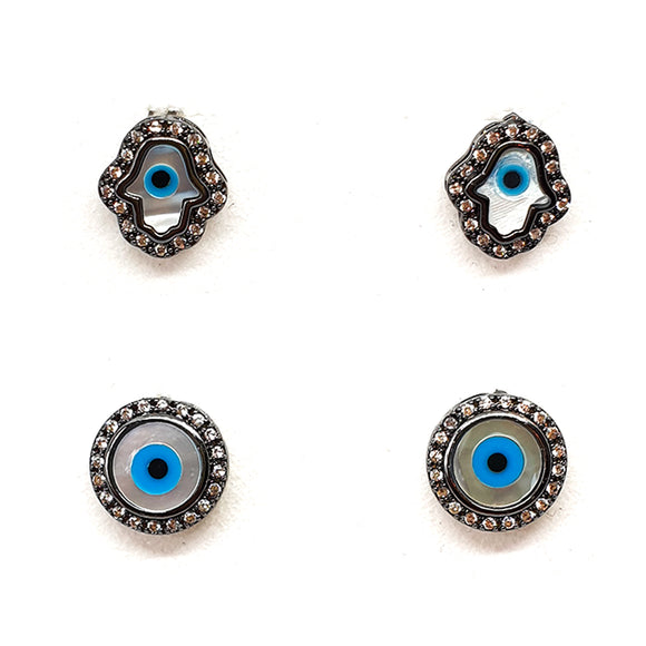 Small Greek Eye Earring