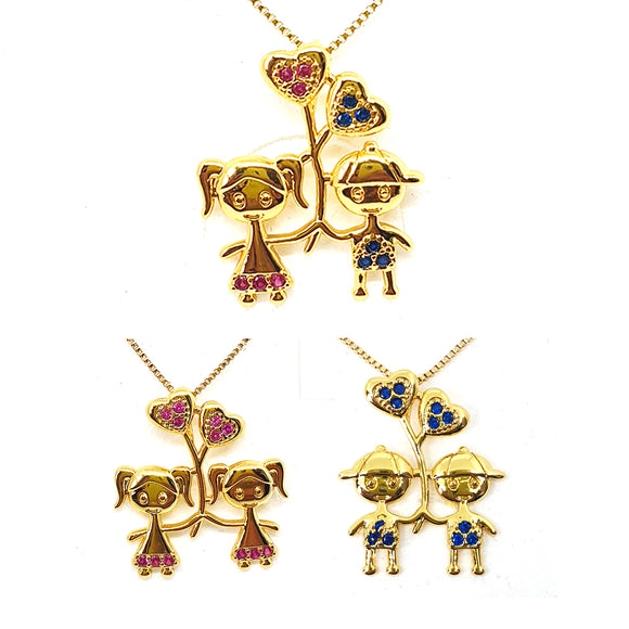 Charm children pendant