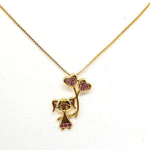 Mother necklaces girl pendant gold