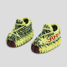 Load image into Gallery viewer, Icy Yellow Crochet Baby Shoes