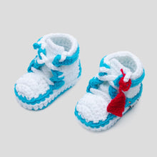 "Load image into Gallery viewer, J-1 ""AIR"" Crochet Shoes Baby Blue"