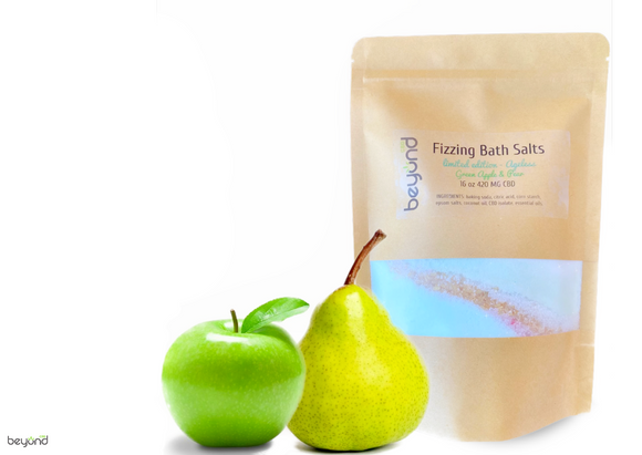 CBD Bath Salts - 'Ageless' Green Apple & Pear 1 lb. 420 MG