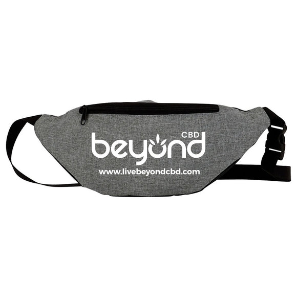 BEYOND CBD adjustable strap Fanny pack - charcoal grey