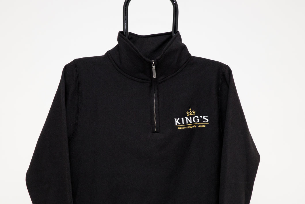 Quarter Zip Sweatshirt, Black