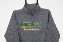 Load image into Gallery viewer, Quarter Zip Sweatshirt, Grey Salt & Pepper