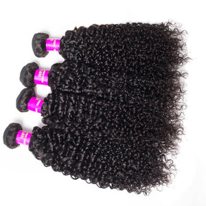 Queena Indian Deep Curly Virgin Hair 4 Bundles Human Hair Weave